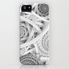 GET LOST - Black and White Spiral iPhone Case