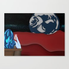 Sky Woman Taking A Break On Mars (The Red Planet) Canvas Print
