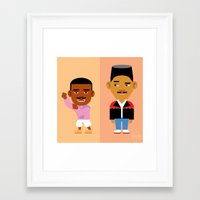 fresh prince Framed Art Prints featuring The Fresh Prince by Evan Gaskin