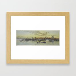 Vintage Pictorial View of NYC (1896) Framed Art Print