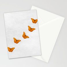Beautiful butterflies on a textured white background Stationery Cards