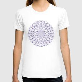 Ultraviolet spring floral  Mandala T-shirt