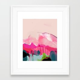 pink mountain Framed Art Print