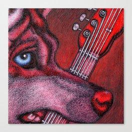 Guitar Wolf Part 1 Canvas Print