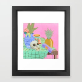 Still Life With Pineapple Framed Art Print