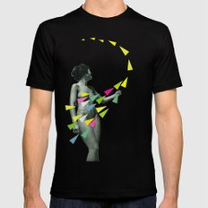 She's a Whirlwind Black LARGE Mens Fitted Tee