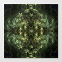 green pattern Canvas Prints featuring Green pattern by Armine Nersisian