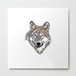Wolf Face Metal Print