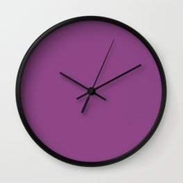 Plum Purple Solid Color Wall Clock