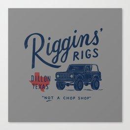 Riggins' Rigs Canvas Print