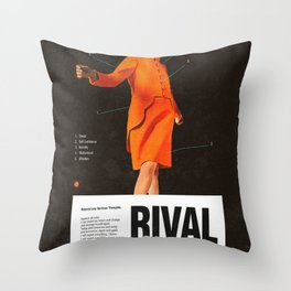 Self Rival Throw Pillow
