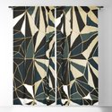 New Art Deco Geometric Pattern - Emerald green and Gold by dominiquevari