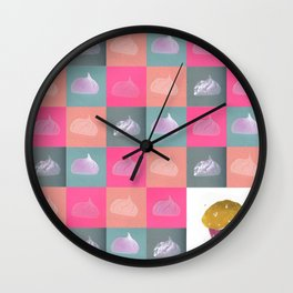 Meringue vs cupcake Wall Clock