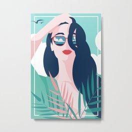 Vibrant Summer Woman Metal Print