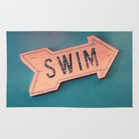 swim Area & Throw Rugs featuring swim by Sylvia Cook Photography