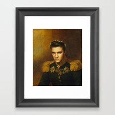 Elvis Presley - replaceface Framed Art Print