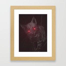 Bad Kitty! Framed Art Print
