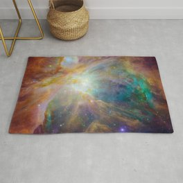 Heart of Orion Nebula Space Galaxy Rug