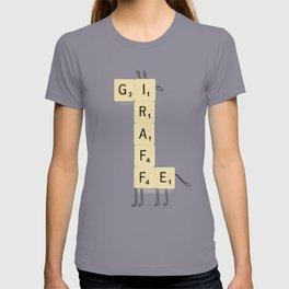 Giraffe Scrabble T-shirt