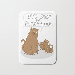 Let's Smash The Patriarchy Kittens Bath Mat