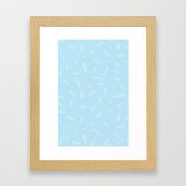 Blue Shape Framed Art Print