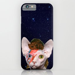 Starry Night Bowie Cat iPhone Case