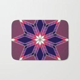 Morning Star Circle (Purple) Bath Mat
