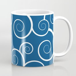 Pantone Classic Blue Spiral Waves Coffee Mug