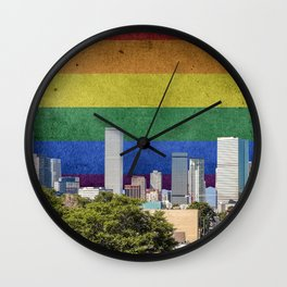 Denver, Colorado LGBT Wall Clock