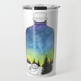 Bottled Summer: Corked Bottle Camping Travel Mug