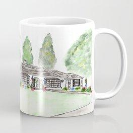 Merrick Rd, Custom watercolor Coffee Mug