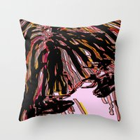 doll Throw Pillows featuring doll by sladja
