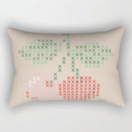 Cherry cross stitch Rectangular Pillow