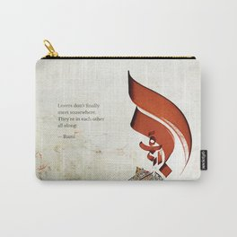 Arabic Calligraphy - Rumi - Lovers Carry-All Pouch