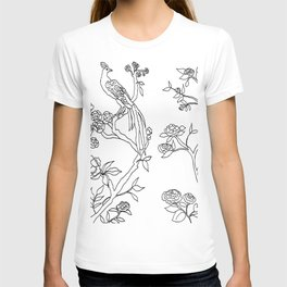 Color Your Own Chinoiserie Panels 4-5 Contour Lines - Casart Scenoiserie Collection T-shirt