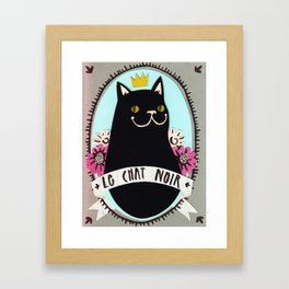 Le chat noir Framed Art Print