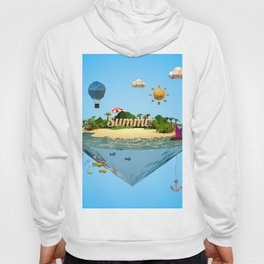 summer holiday with low poly style Hoody