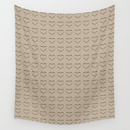Pure Gold Heart Wall Tapestry