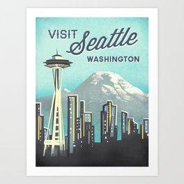 Seattle Space Needle Art Print