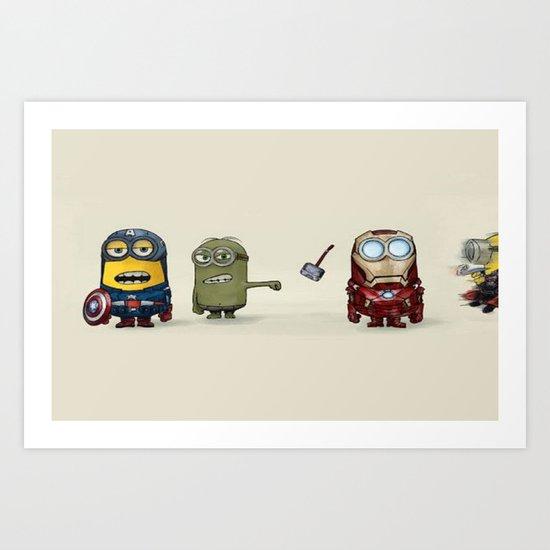Minion Avengers Art Print