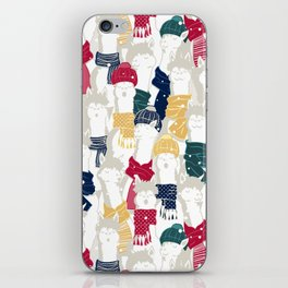 Happy llamas Christmas choir iPhone Skin
