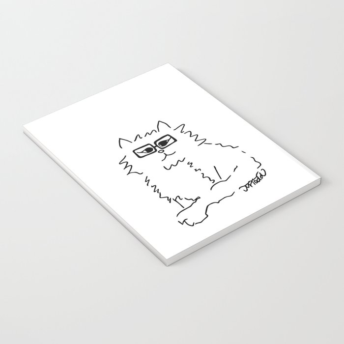 How Do You Like Meow Hipster Kitten Notebook
