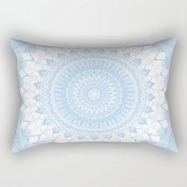 Baby Blue Boho Mandala Rectangular Pillow