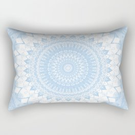 Baby Blue Boho Mandala Rectangular Pillow