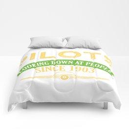 Pilot Proud Aviation Lover Gift Idea Comforters