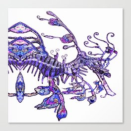 Leafy Seadragon II original illustration by Sheridon Rayment. Canvas Print