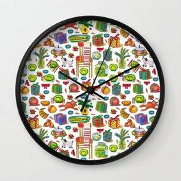 NEY YEAR PATTERN Wall Clock