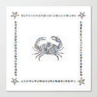 crab Canvas Prints featuring Crab by loverocksme