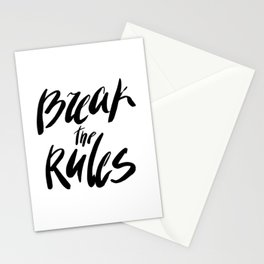Break the rules! Stationery Cards