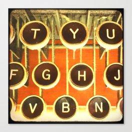 TTV Typewriter Keys Canvas Print